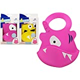 Silicone Baby Bubba Bib with Crumb Catcher Machine Washable (Pink)