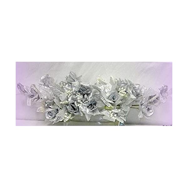 Inna-Wholesale Art Crafts New Silver Swag Silk Roses Centerpiece Decorating Flowers Arch Gazebo Pew Anniversary – Perfect for Any Wedding, Special Occasion or Home Office D?cor