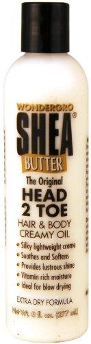 (Wonder Gro Shea Butter Hand & Body Oil 8 oz.)