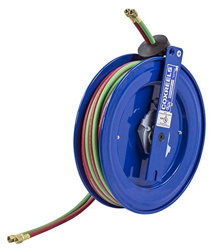 Welding Series Hose Reel (Coxreels SL17W-150 Side Mount Spring Rewind Welding Reel Oxygen-Acetylene Dual Hose: 1/4