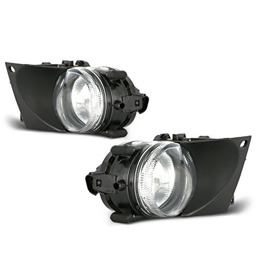 (ECCPP Clear OE/Replacement Fog Light Assembly for 2001-2003 BMW E39 5 Series Pair Set)