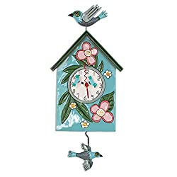 Allen Designs P1994 Swinging Pendulum Birdhouse Design Blessed Nest 8 inches X 16.5 inches