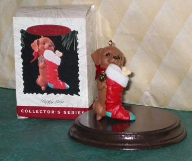 Hallmark Keepsake Ornament Puppy Love QX5651 1996 (1996 Christmas Ornament)