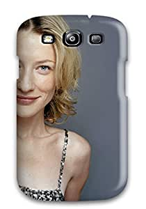 AnnaSanders Scratch-free Phone Case For Galaxy S3- Retail Packaging - Cate Gray Dress 3 Blonde Hair Background People Women