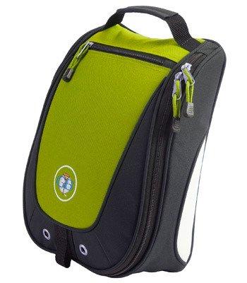 Escort Golf Shoe Bag, Black|Lime