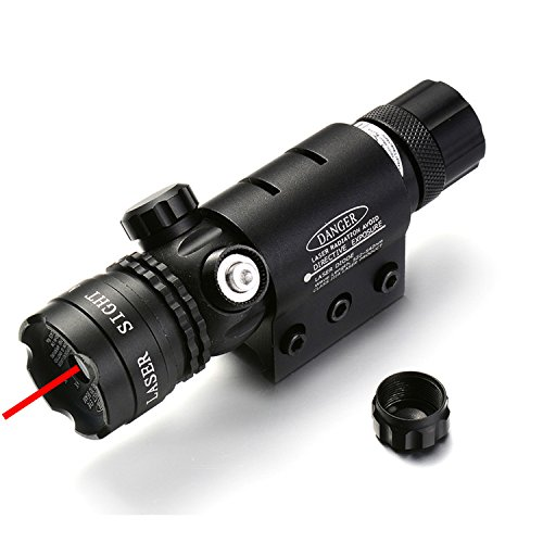 MBMAH Red Dot TacticalLaser Red Dot Sight -Picatinny Rail Mount Barrel Mount Pressure On/Off Switch Rifles ShotgunsBattery Charger Included by MBMAH