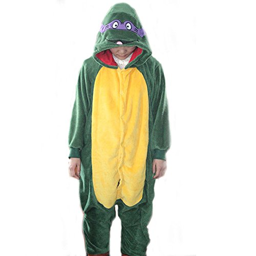 Ninja Turtle Onesie Costume (GOLECHA Teenage Mutant Ninja Turtles Adults Animal Kigurumi Cosplay Costume Pajamas Onesies (S))