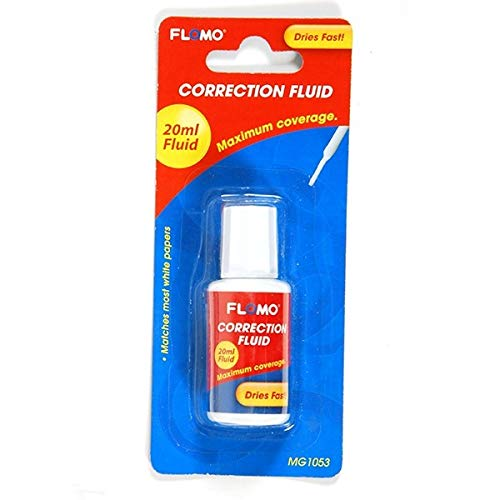 White Correction Fluid with Brush by FLOMO