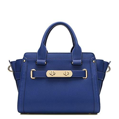 Borsa A color Grande Blue Tote Blue Donna Capacità Da Formale Spalla Hemotrade d50vqd