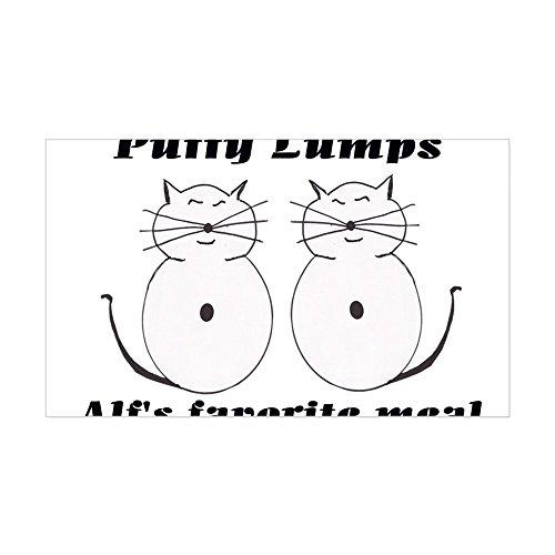 (CafePress - Kitty Cats Puffy Lumps Alf's Sticker (Rectangular - Rectangle Bumper Sticker Car Decal)