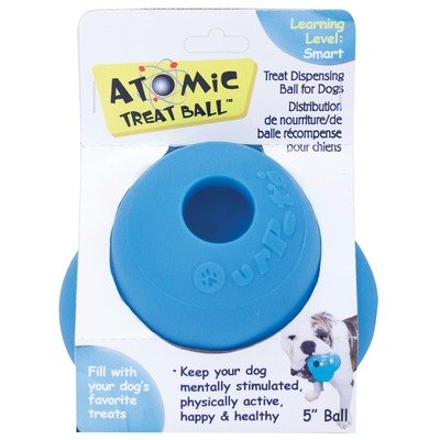 Interactive Food Delivery Toy – Atomic Treat Ball Size: 5″, My Pet Supplies