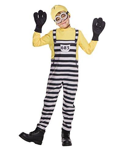 Rubie's Costume Boys Despicable Me 3 Jail Minion Tom Costume, Medium, Multicolor ()