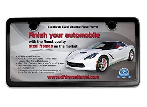 DFDM National - Gloss Black Stainless Steel License for sale  Delivered anywhere in USA