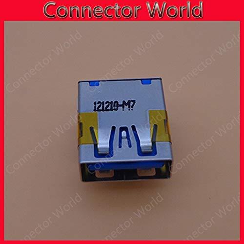 Color: 50pcs Gimax 20-100pcs//lot Original New USB 3.0 Laptop USB Connector Blue USB JACK USB 3.0 Heightening DIP feet copper down high plate