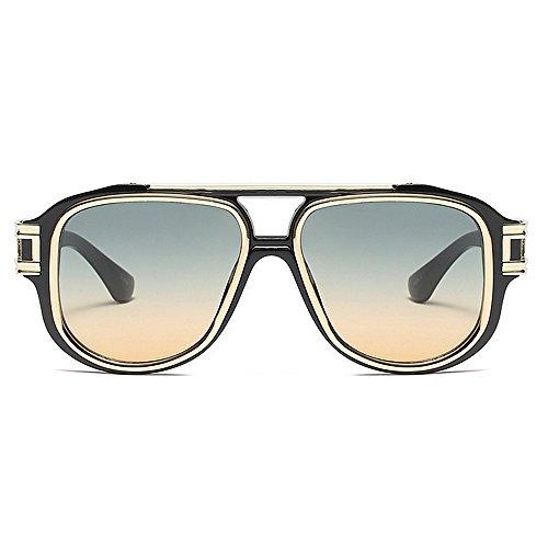 verano Gafas Verde de protección de vacaciones Gu para aire Gafas de gran marco Playa al UV punky de sol Estilo Color conducir de sol para libre metálicas Gran mujer Verde Peggy tamaño fqTAw6Zq