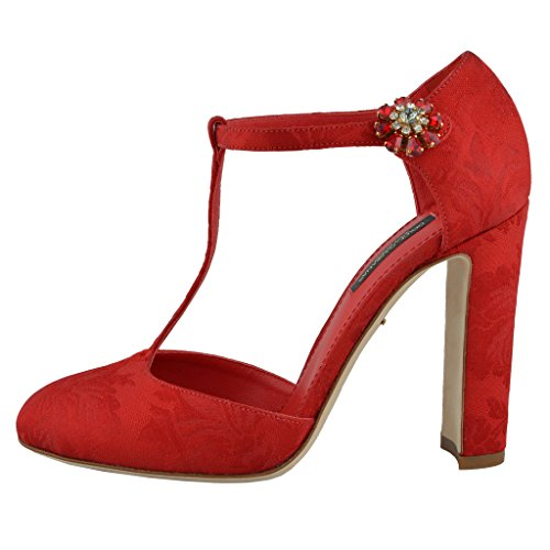 Red Shoes Heels Mary Women's Dolce High Silk Red Gabbana Janes amp; xIRxqTS
