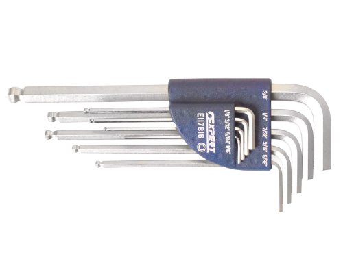 Britool E117816B 3/32 - 3/8-inch Hex Key Set with Long Ball End Imperial (9 Pieces) ()
