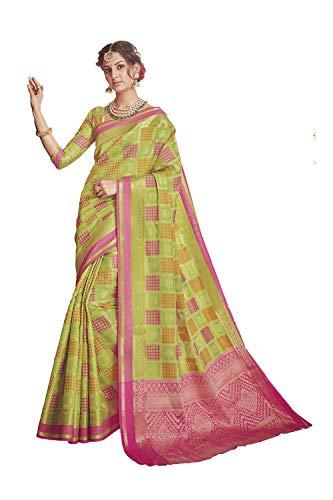 Da Facioun Indian Sarees For Women Wedding Designer Party Wear Traditional Sari. Da Facioun Saris Indiens Pour Les Femmes Portent Partie Concepteur De Mariage Sari Traditionnel. Green 6 Vert 6