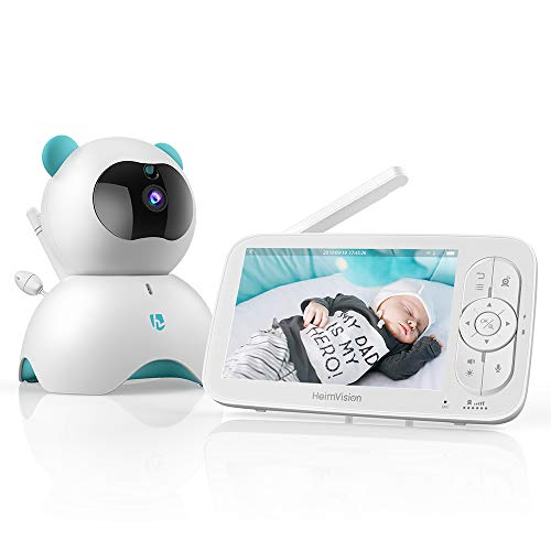 HeimVision HM136 Video Baby Monitor, 5 LCD Display, 720P HD, Two-Way Audio, Temperature & Sound Alarm, Security Camera with 110° Wide Angle, Night Vision, Up to 1000ft of Range