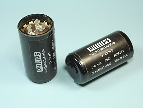 1pc Philips Motor Start Capacitor 21-25 MFD 330 VAC (Replaces MARS -