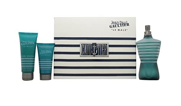 Jean Paul Gaultier Le Male EDT 125 ML + 75ml Gel + 50 ML After Shave: Amazon.es: Hogar
