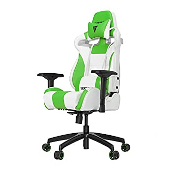 Image of Vertagear S-Line SL4000 Racing Series Gaming Chair - White/Green (Rev. 2) Video Game Chairs