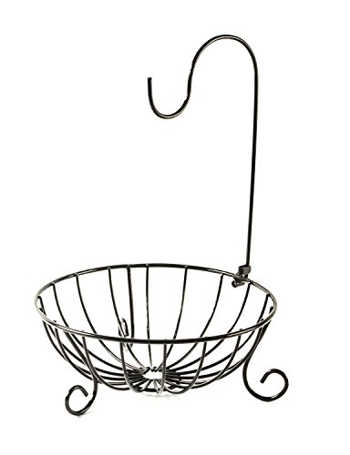 Bahoki Essentials Fruit Tree Bowl with Removable Hanger, Wire Storage Basket