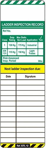 Signs and Labels AMZSCF1SL0A Ladder Tag Replacement Inserts (Pack of 10) Signs & Labels