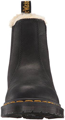 Dr. Martens Leonore Polierter Wyoming Leder Fashion Boot Schwarz