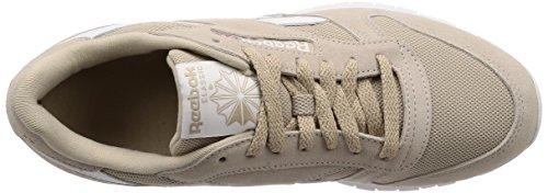 Cl white Leather Para Beige parchment Hombre essentials Zapatillas Mu Gimnasia Reebok 0 De a6Sdq6fW