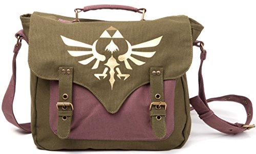 Zelda Borsa a tracolla Canvas Messenger Bag Logo Front Nintendo classiche Flight Bag With Golden Triforce Logo borsa a tracolla