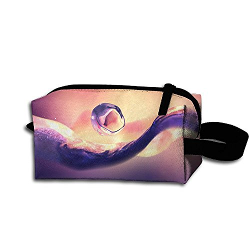 Makeup Cosmetic Bag 4k Abstract Artistic Wallpaper Medicine Bag Zip Travel Portable Storage Pouch For Mens Womens ()
