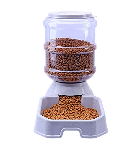 eeder, Pet Automatic Waterer, Dog Water Dispenser, 1 Gallon Large Capacity Cat Dog Food and Water Dispenser (Feeder) ()