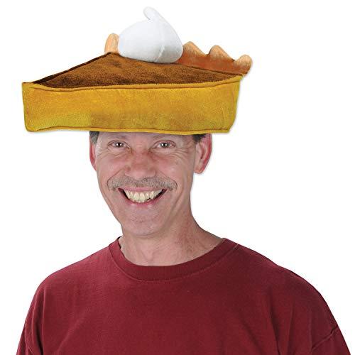 (Plush Pumpkin Pie Hat Pkg/3)