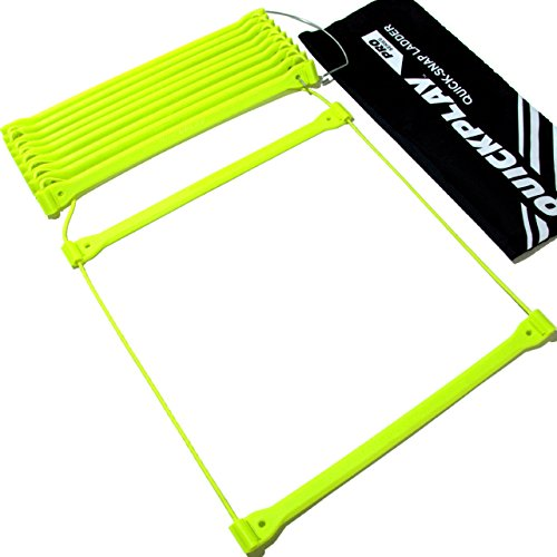 QUICKPLAY PRO Agility Ladder No Tangle 11-Rungs Quick Lock Adjustable Rungs - 2YR WARRANTY - NEW FOR 2017 -