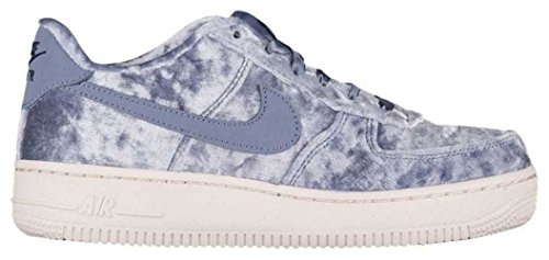 (NIKE Air Force 1 Lv8 (GS) Big Kids (7Y, Dark Sky Blue/Dark Sky Blue-thunder)