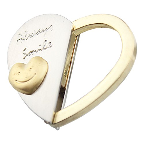 FOY-MALL Fashion Smiling Face Heart Shape Alloy Men Women Keychain for Car Keys or Bags - Shape Face Male Heart