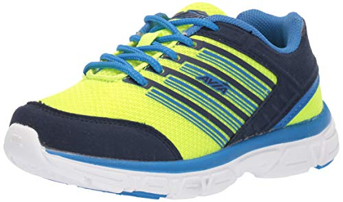 Avia Boy's Avi-Damon Sneaker, Highlighter Lime/True Navy/Electric Blue, 1 Medium US Little Kid (Electric Blue Sneakers)