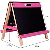 Mont Marte Tabletop Easel for Kids, Nice Art Easels with Roll Papers for Kids&Toddlers-Pink