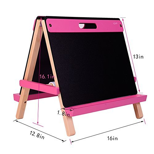Pink Art Easel - Mont Marte Tabletop Easel for Kids, Nice Art Easels with Roll Papers for Kids&Toddlers-Pink