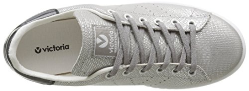 Victoria Unisex Adults' Deportivo Tejido Fantasia Low-Top Sneakers, Grey Argent (Plata)
