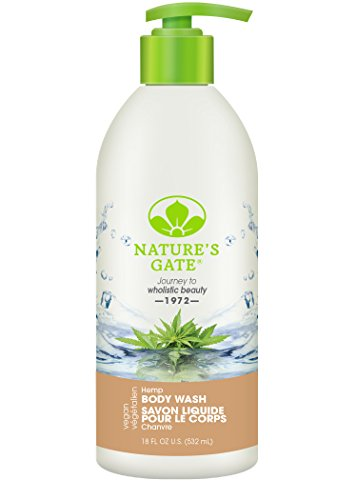 Natures Gate Natural Hemp Velvet Daily Reviving And Refreshing Body Wash  Vegan  Gluten Free  Paraben Free  Sulfate Free  Phthalate Free  Edta Free  Cruelty Free  18 Fluid Ounce  Pack Of 2