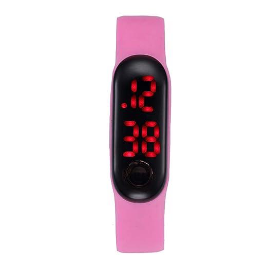 Dylung Reloj Hodómetro para Mujer Unisex Relojes Deportivos Inteligentes Reloj de Pulsera Digital de Silicona Simple de Moda Contador de Pasos Cálculo de ...