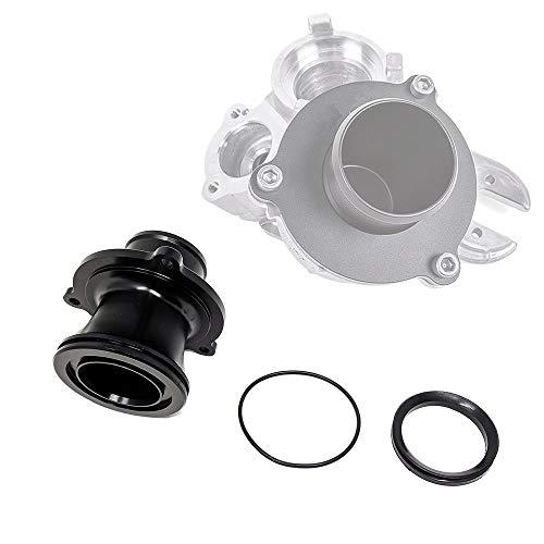 Rev9 BOV-001-MD_1 Turbo Muffler Bypass Kit, CNC Billet Aluminum, Black Anodized, fits Volkswagen Golf MK7 1.8/2.0 TSI 2015-18