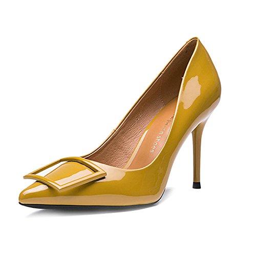 UK Mode Mariage De Talons 2 De EU Chaussures Hauts 34 De Femme Black Noire La De 8cm Soirée La Sexy Boutons De De waqxYfq1n