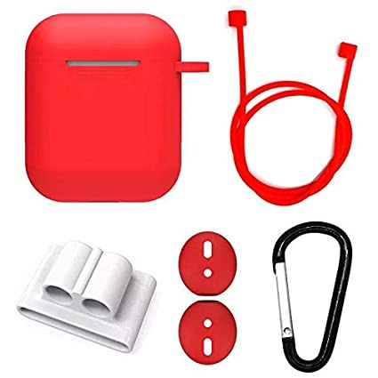 cb8f08f8b09 AirPods Case 5 in 1 Airpods Accessories Kit, Protective Silicone Cover and  Skin for Apple