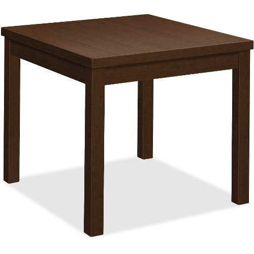 HON Laminate Corner Table, 24''L x 24''W - 24'' x 20'' x 24'', Edge, 24'' x 24''Work Surface, Top - Band Edge - Material: Wood Grain Work Surface, Particleboard Top - Finish: Thermofused Laminate (TFL) Work by HON