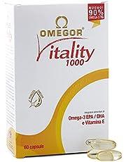 Omegor® Vitality 1000-90% Omega-3 Tg! Ifos zertifiziert seit 2006. Epa 535Mg und Dha 268Mg pro Perle. Struktur min. 90% Triglyceride und molekulare Destillation, 60 Cps