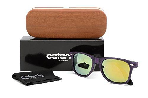 UV400 Polarisé Soleil Etui Unisex de Occhiali Nouvelle La avec Lunettes Polarisées Catania ® Collection Verre w0v8IxqRZ