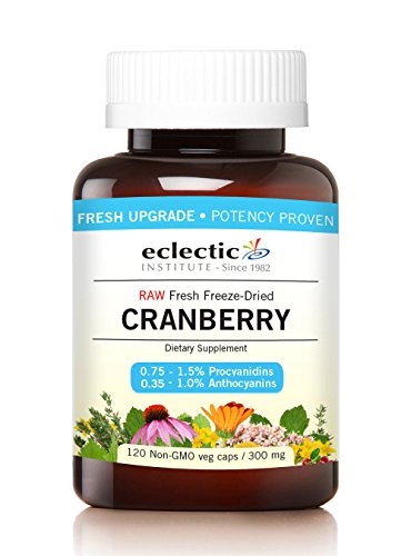 Eclectic Institute Cranberry - Eclectic Cranberry 300 Mg Cog FDUV Glass, Blue, 120 Count